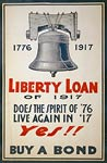 Liberty Bell - Buy a Bond - World War 1 Poster