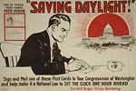 Saving daylight - make it law to change clock - WWI Poster