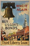 Liberty Bell, crowd at Independence Hall WWI Poster