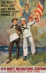 The Navy needs you - World War One Poster
