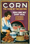 Corn - the food of the nation - World War 1 Poster