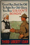 Bye, Dad, I'm off to fight for Old Glory WWI Poster