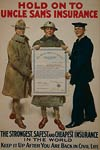 Uncle Sam's insurancen World War 1 Poster