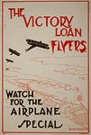 Airplanes flying over a speeding train - WWI Poster