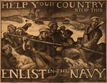 Help your country stop this Enlist in the Navy WWI Poster