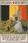 Belgian Red Cross and flag - World War I Poster