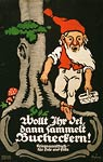 For oil collect beech nut seeds German WWI Poster