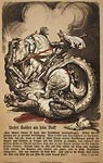 St. George slaying a dragon German WWI War Poster