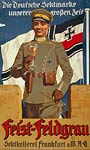 Feist Sekt champagne German army officer WWI Poster
