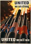 American WWII Poster - United we are strong