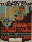 Motor Transport Corps - mechanic - WWI Poster