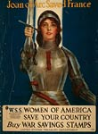 Joan of Arc saved France World War I Poster