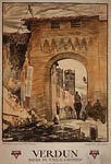 Verdun arch and ruins - World War I Poster