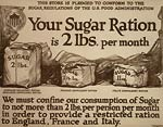 Your sugar ration is 2 lbs. per month War Poster