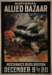 Allied tank, trenches, airplanes Poster