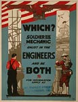 Soldier or mechanic ENLIST American WWI Poster