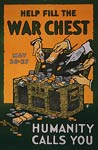 Help fill the war chest World War Poster