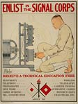 Enlist in the Signal Corps World War 1 Poster