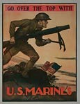 Go over the top with US Marines War Poster