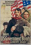 Support the American flag of liberty War Poster
