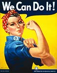 Rosie the Riveter We Can Do It WWII Poster