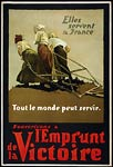 Canadian WWI Poster - three French women pulling a plow
