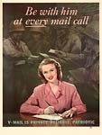 V-Mail is private, reliable, patriotic WWII Poster