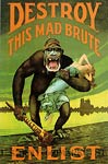 Destroy this Mad Brute Enlist War Poster