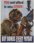 American World War II Poster, Buy bonds every payday