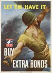 Man throwing grenade American WWII Poster