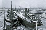 Delaware Freighters in winter quarters 1905