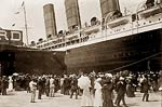 Lusitania arriving in New York City 1907